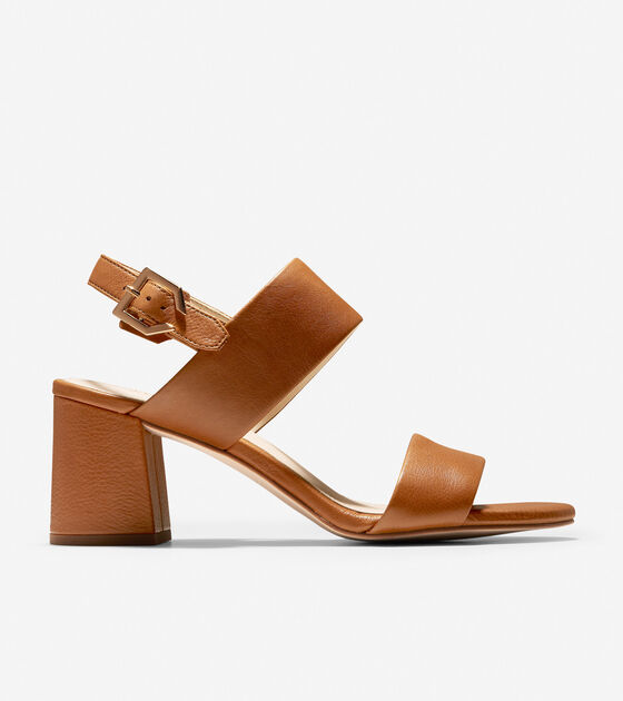 4ca001d57a3 Cole Haan Avani City Sandal (65mm) in British Tan Tumbled Leather ...
