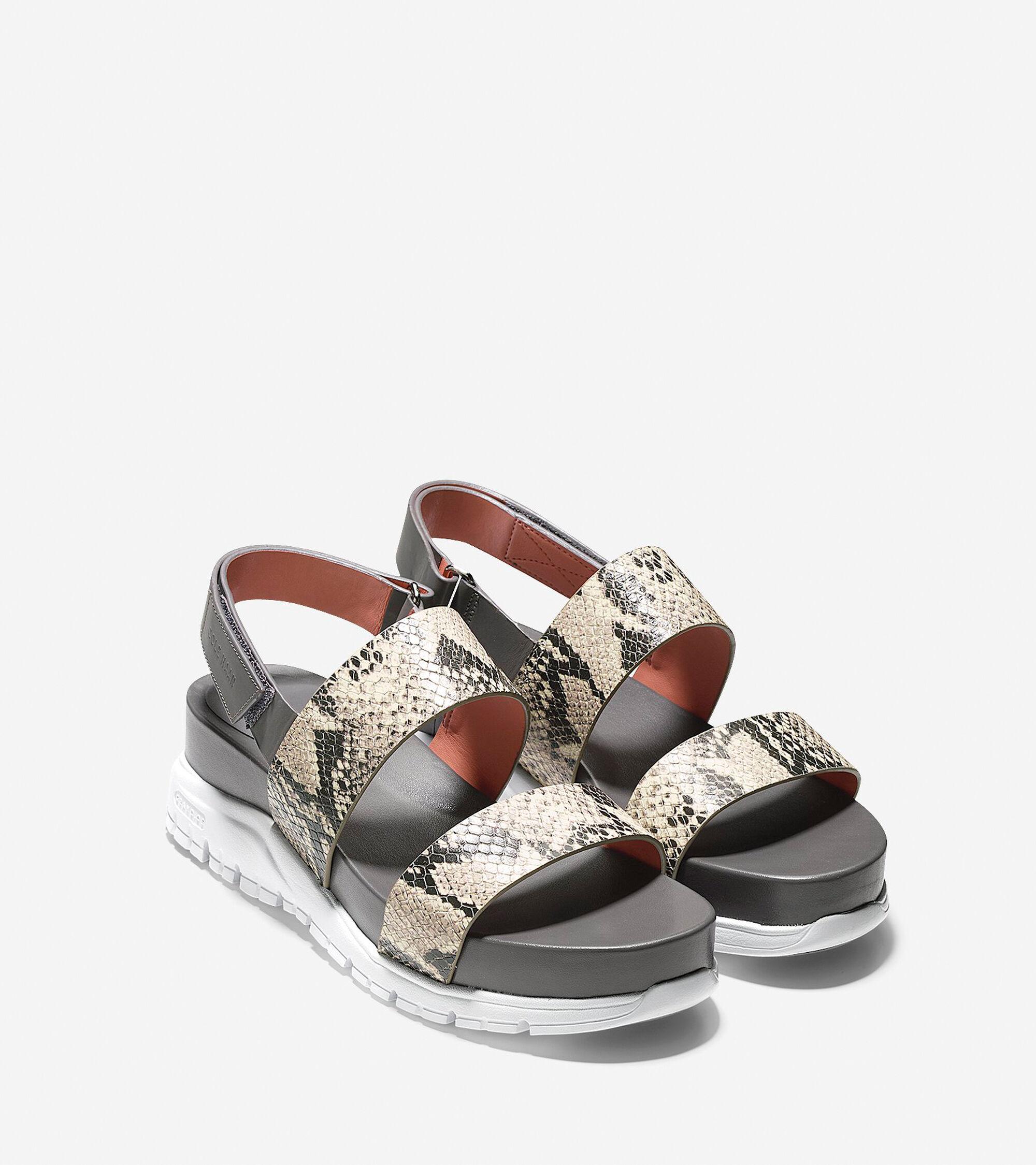 aa848b7d7f02 ZEROGRAND Slide Sandals in Roccia Snake