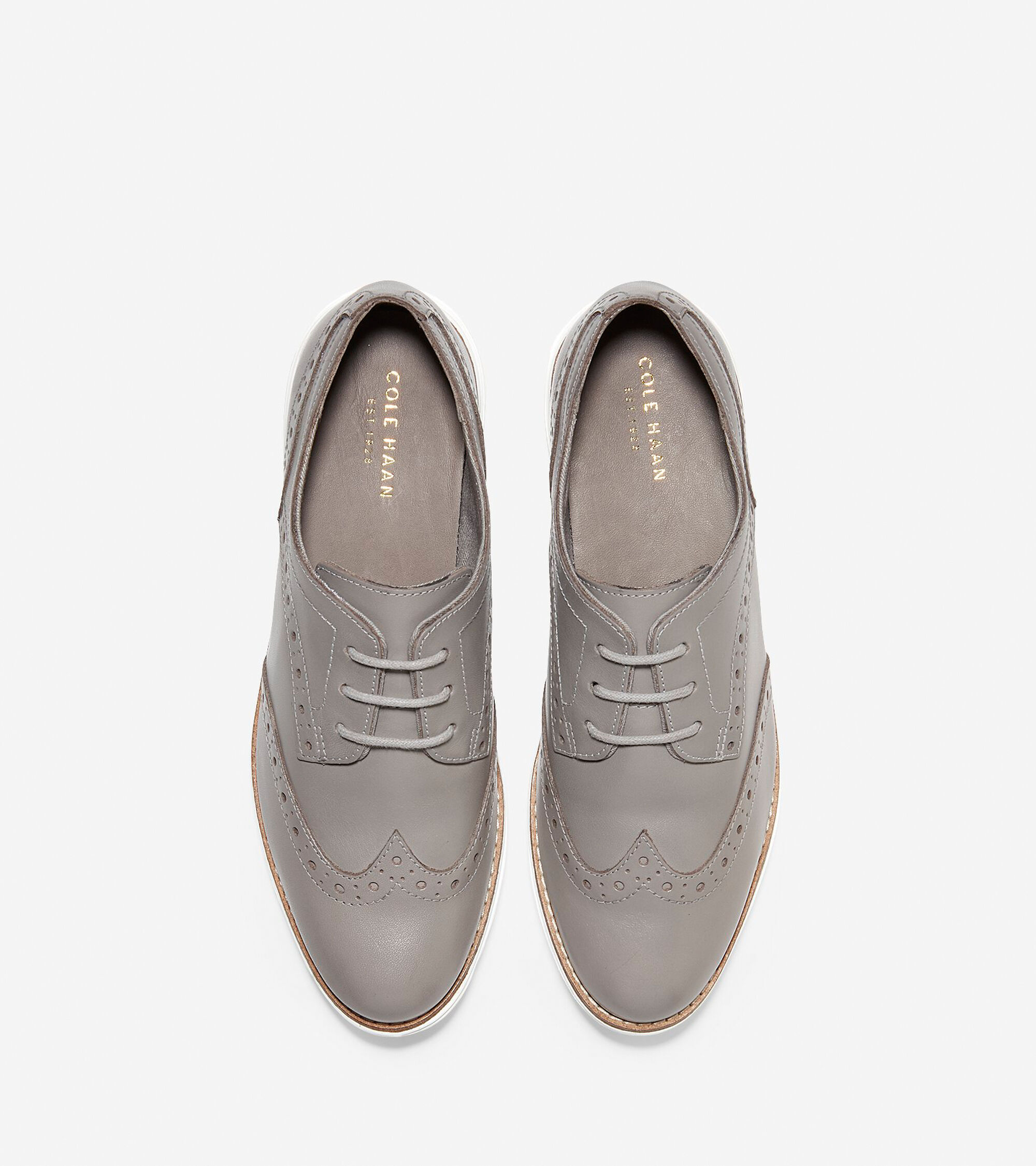 Grey Oxford Womens Shoes