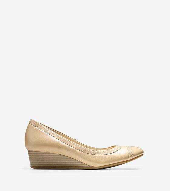 Shoes > Elsie Cap Toe Wedge (40mm)