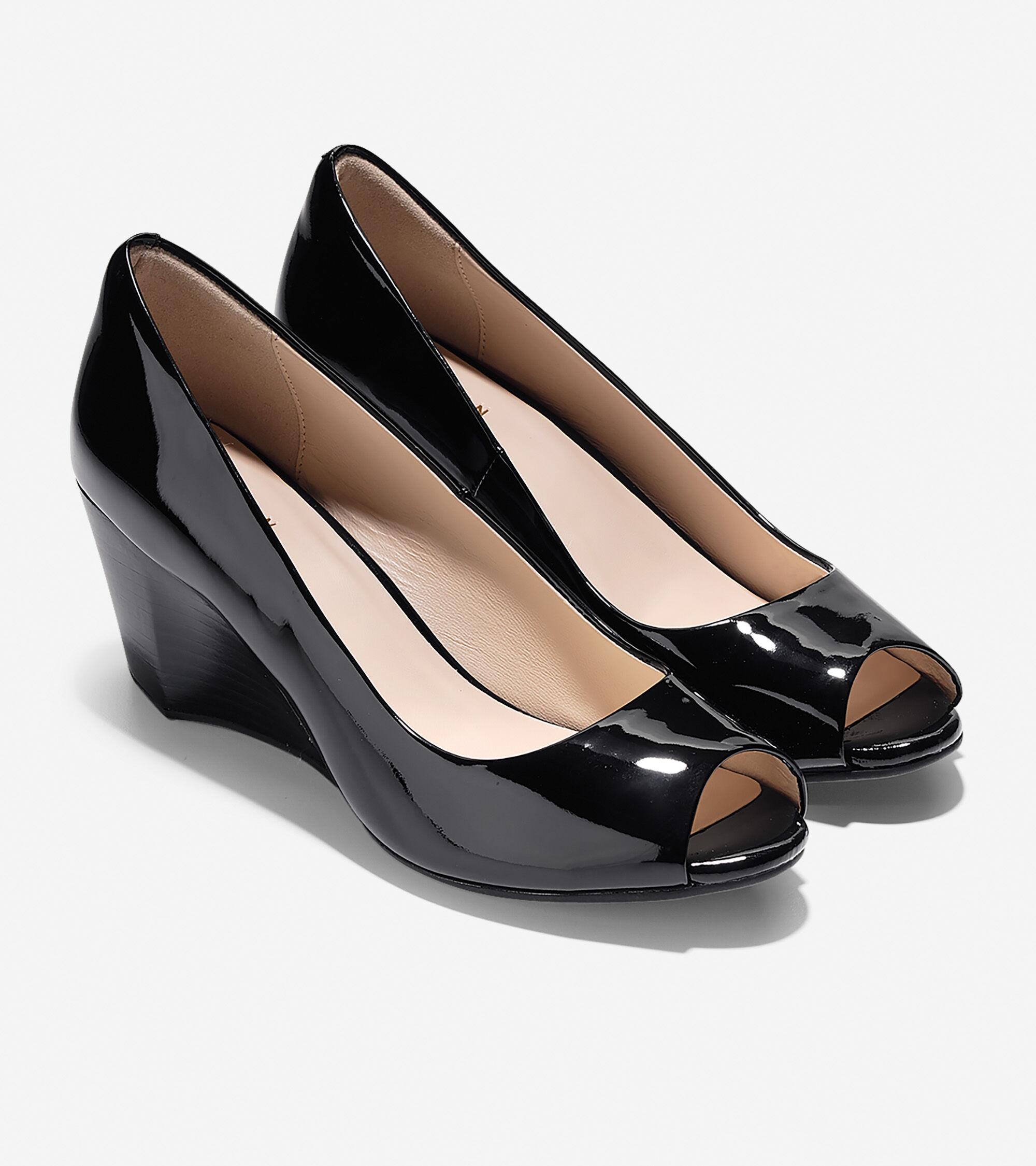 4af6afa6d3dc Women s Sadie Open Toe Wedges 65mm in Black