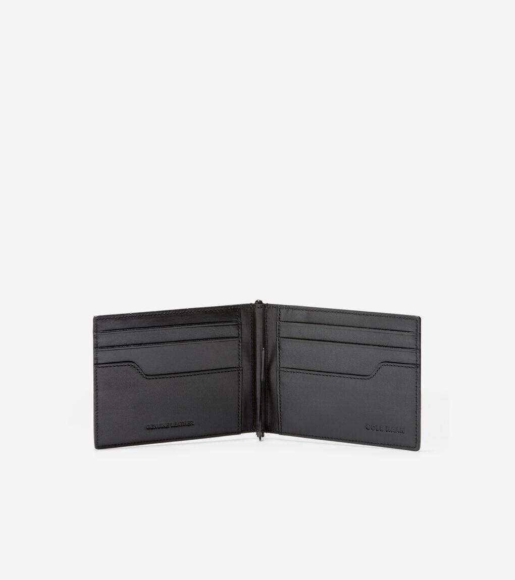 MENS Metal Logo Money Clip Billfold Wallet