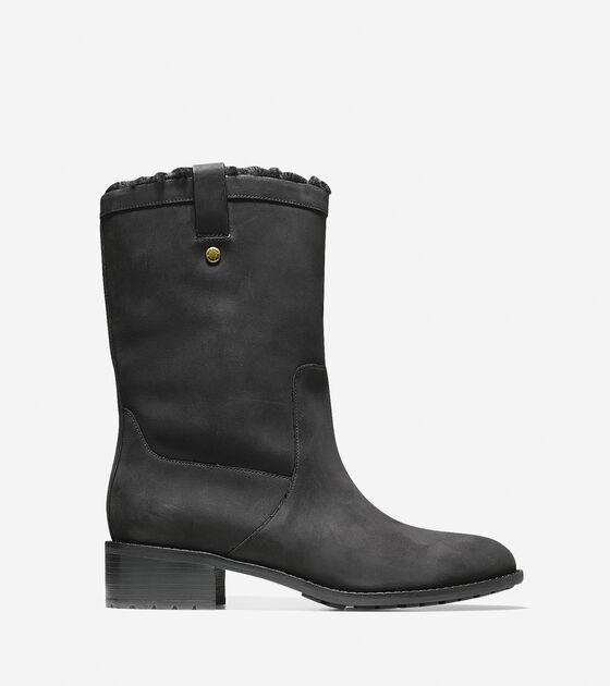 5a687d7168aa9 Cole Haan Jessup Waterproof Boot (40mm) in Black Waterproof ...