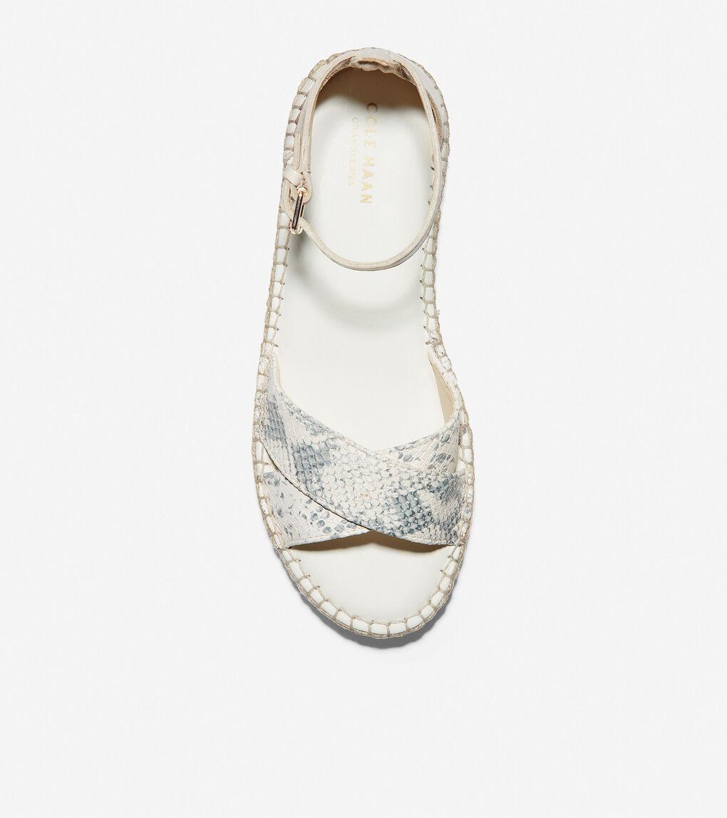 WOMENS Cloudfeel Espadrille Ankle Strap Sandal