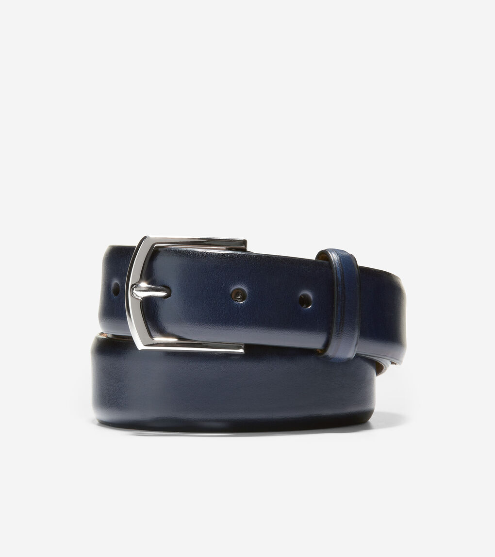 MENS Lewis 32mm Burnished Leather Belt
