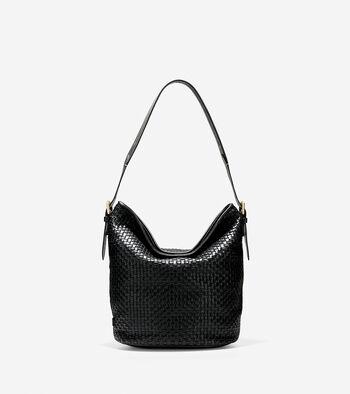 Loralie Weave Bucket Bag