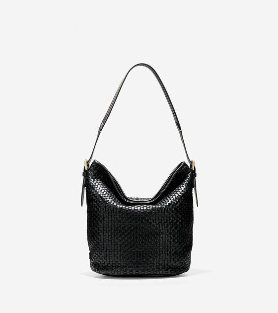 Women s Loralie Weave Bucket Bag in Black  730fbe410809f