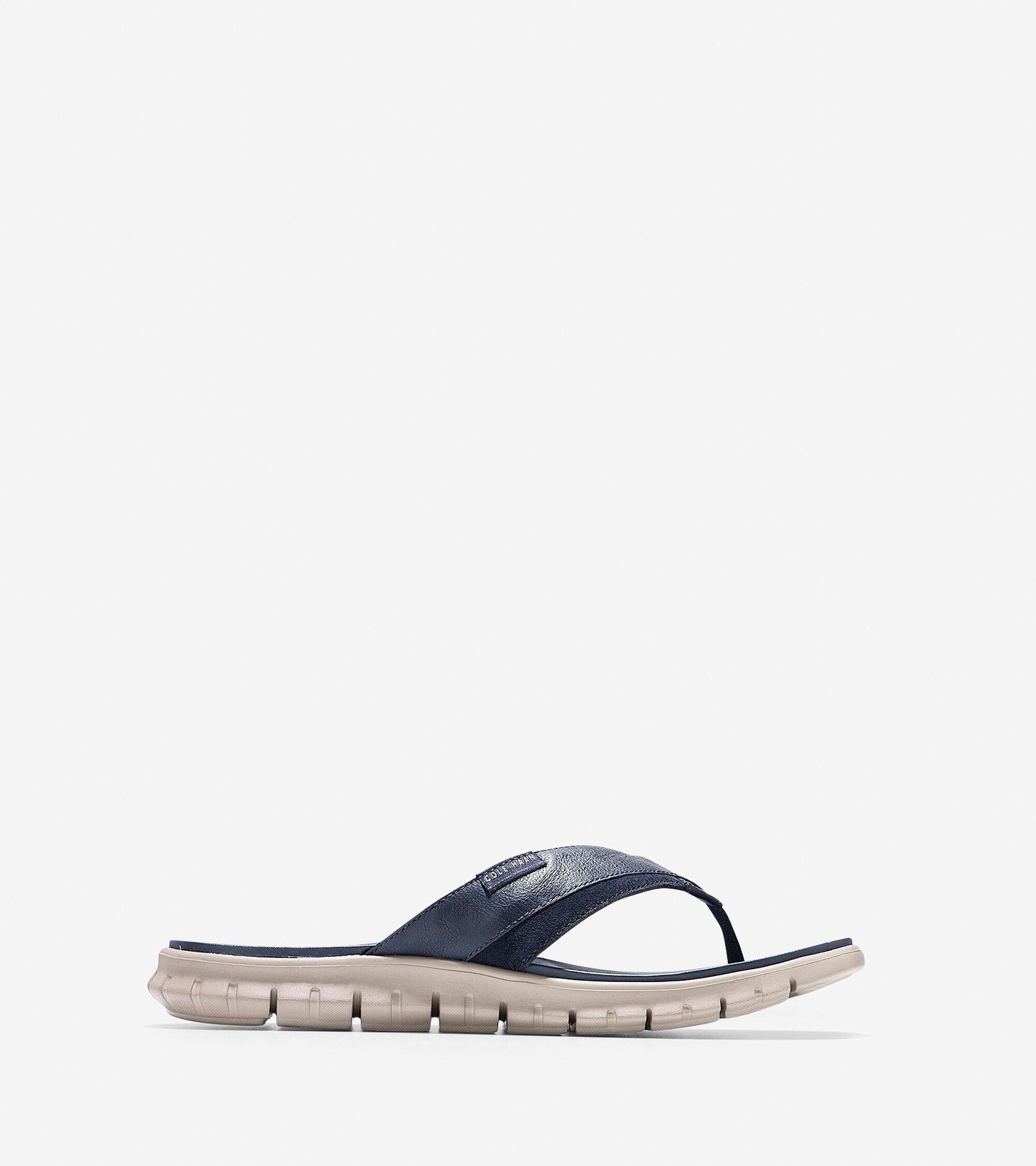 3a08a618e4e14a ZEROGRAND Fold Thong Sandals in Marine Blue