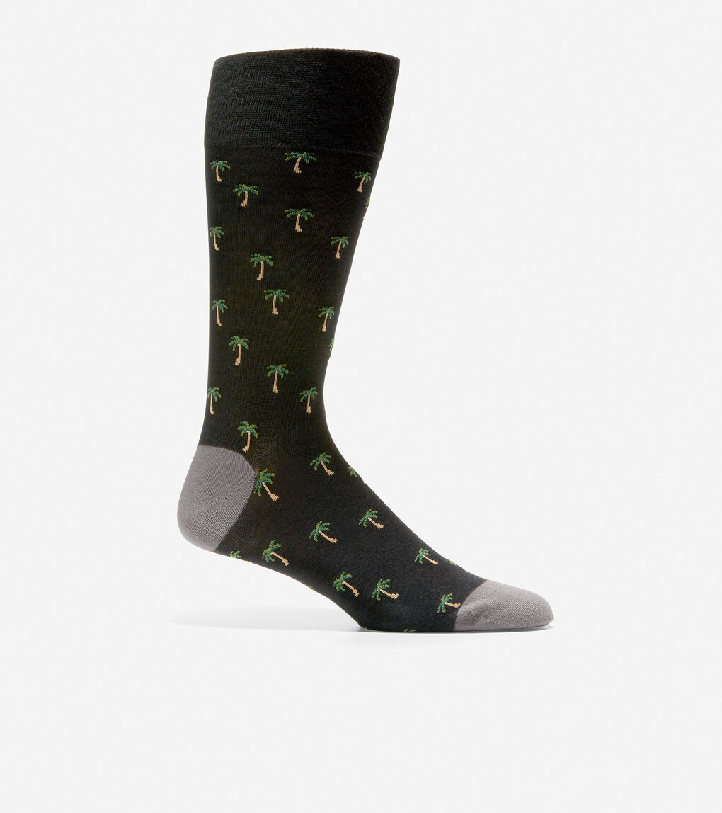MENS Palm Tree Crew Socks