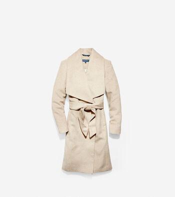 Slick Wool Wrap Coat