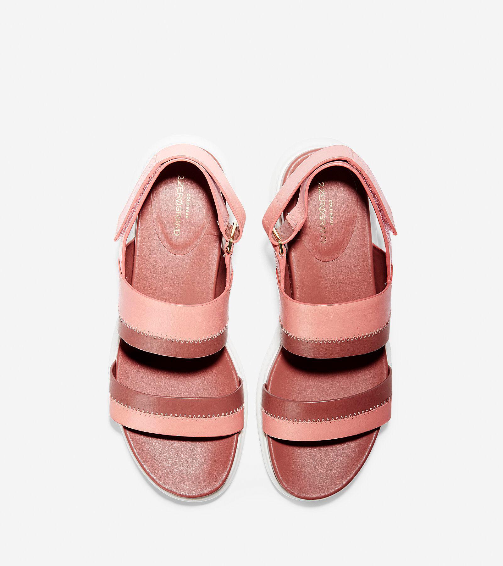 Donna 2.ZEROGRAND Slide Sandalo in Coral Almond Almond Almond   Cole Haan d4d169