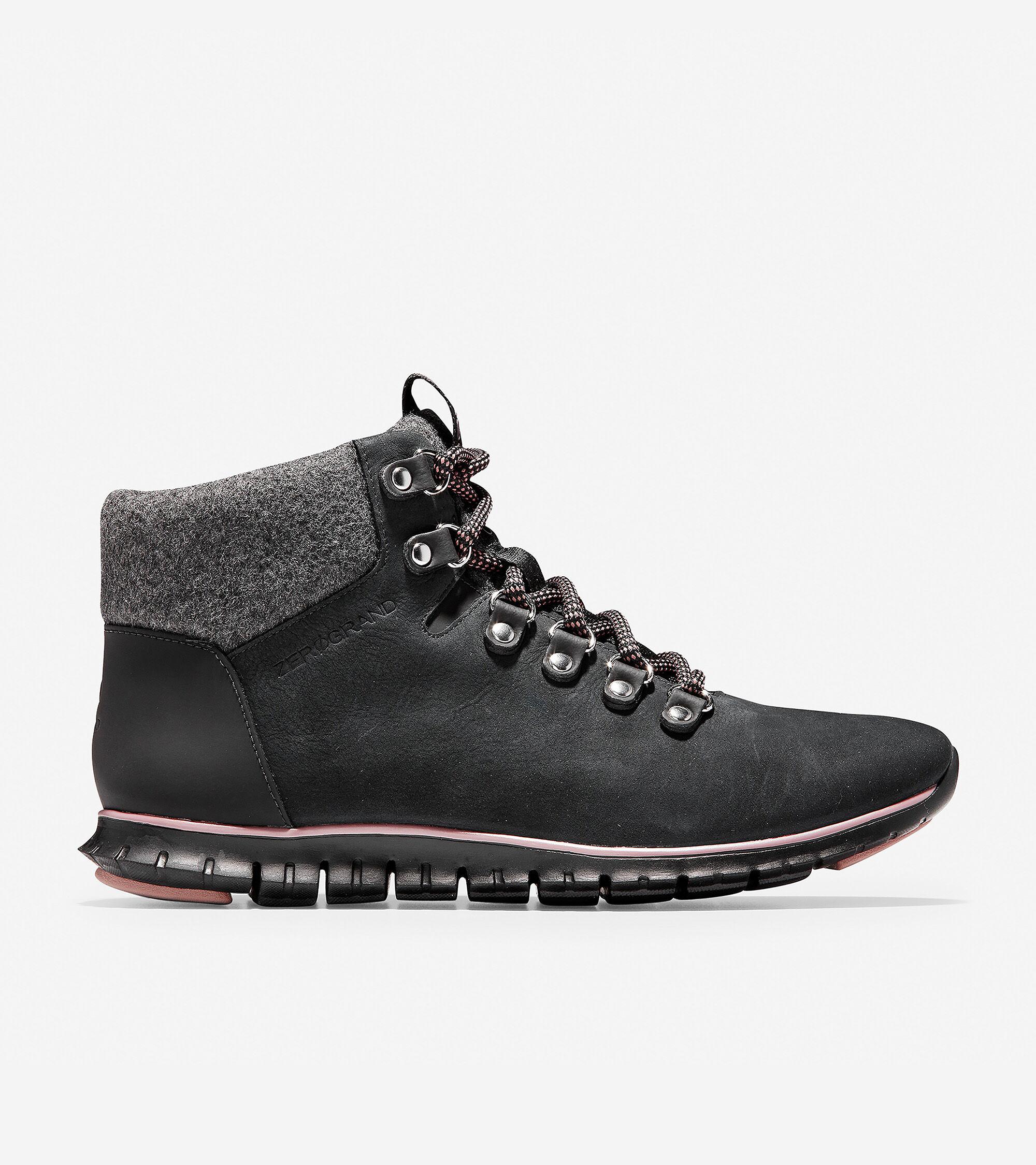 Women's ZERØGRAND Hiker Boot in Black