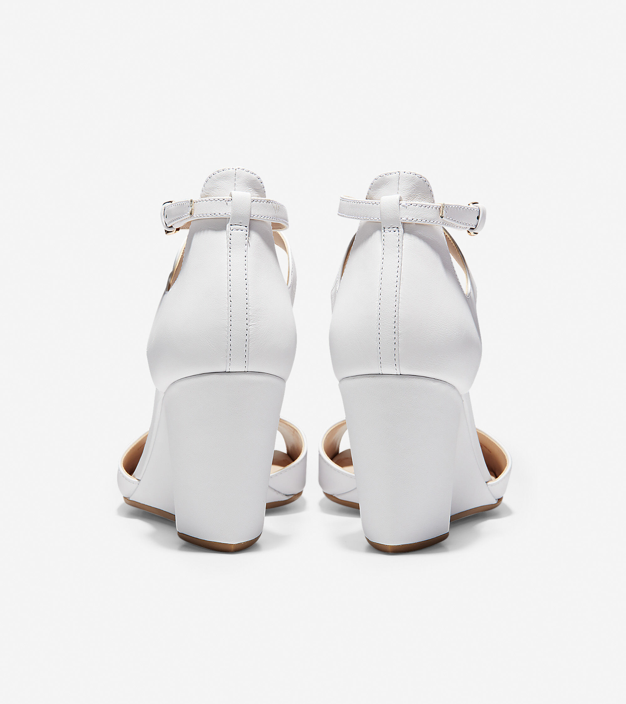 1f83cd201a5 Women s Sadie Open Toe Wedge Sandals 75MM in Optic White