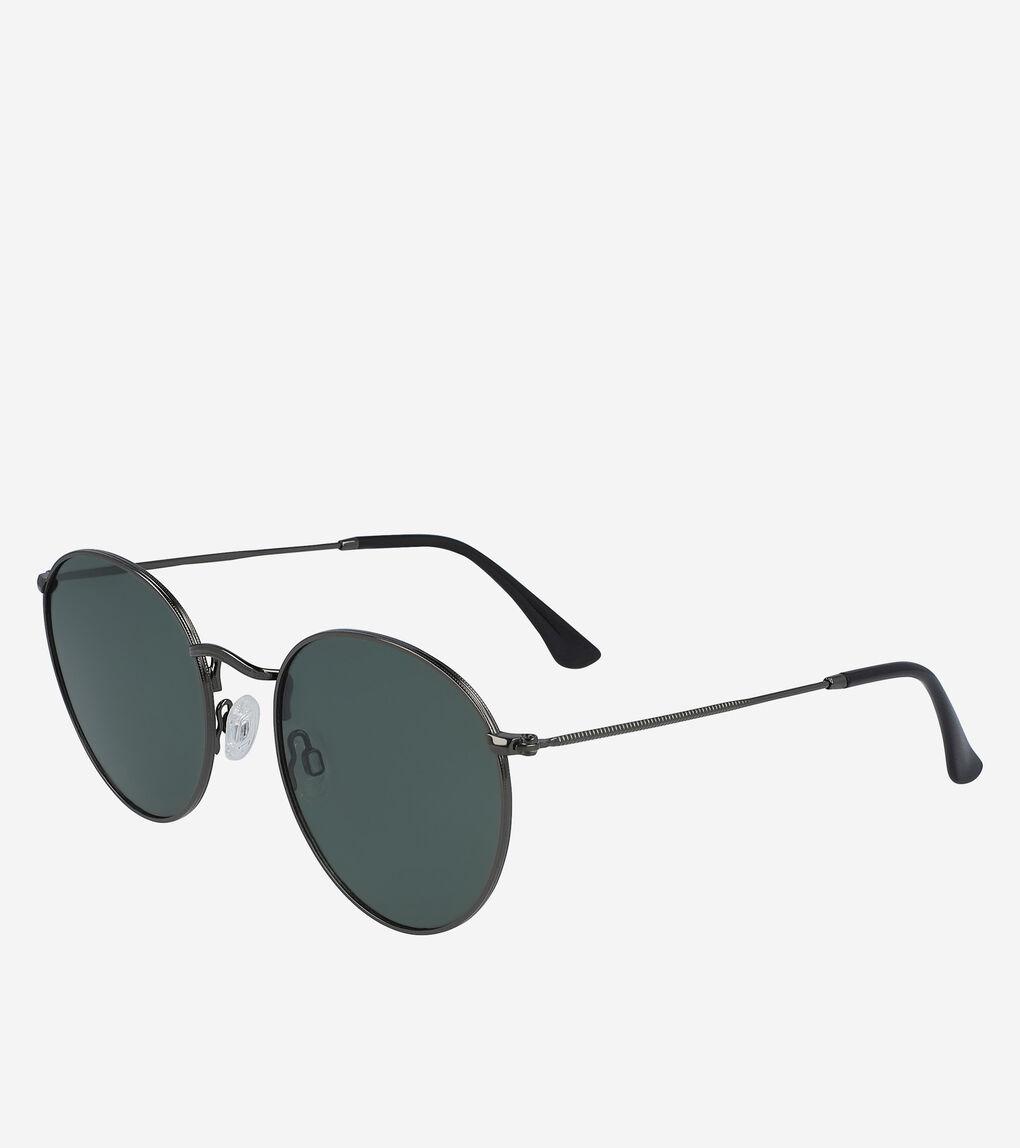 Mens Classic Metal Round Sunglasses