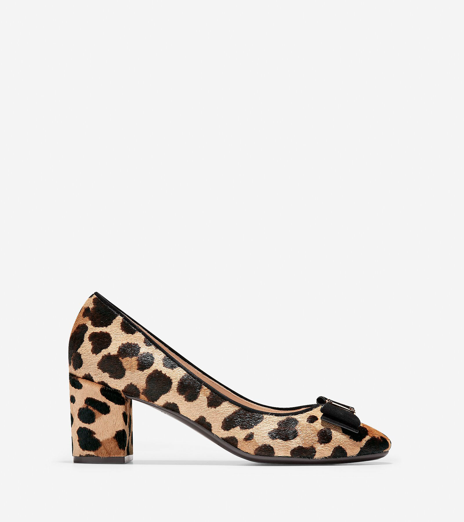 Donna Tali Bow Pumps in Ocelot Haan Print Haircalf   Cole Haan Ocelot 88200f
