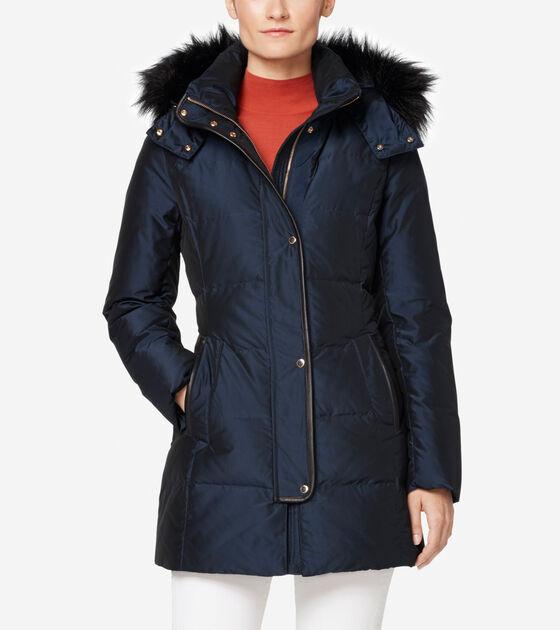 Outerwear > Silk Down Short Coat