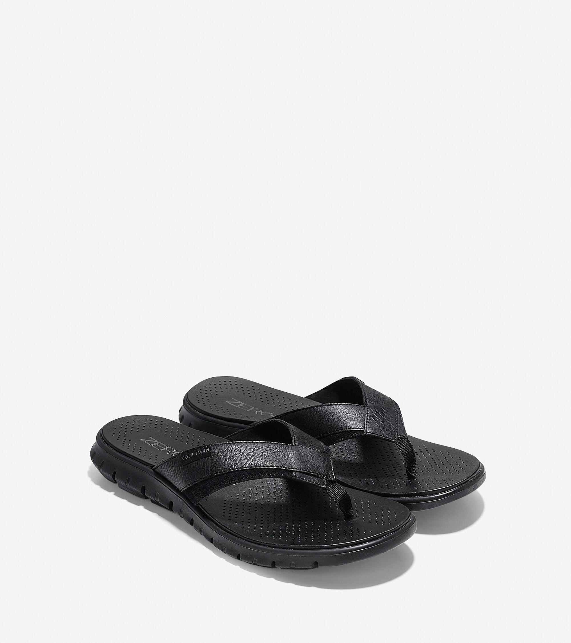 fd6a2f5016a Men s ZEROGRAND Fold Thong Sandals in Black