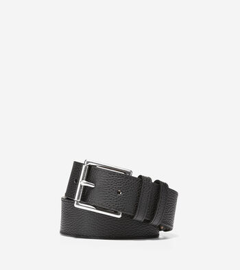 35mm Flat Strap Belt with Stitched Edge