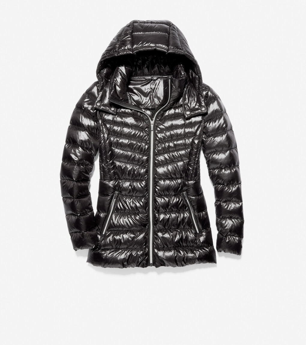 Womens Glossy Down Quilted Jacket
