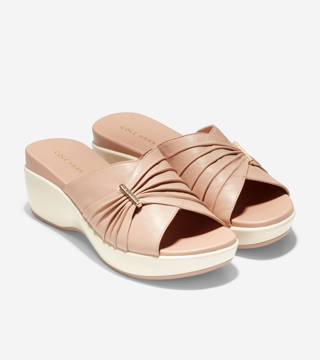 WOMENS Aubree Ruched Slide Sandal