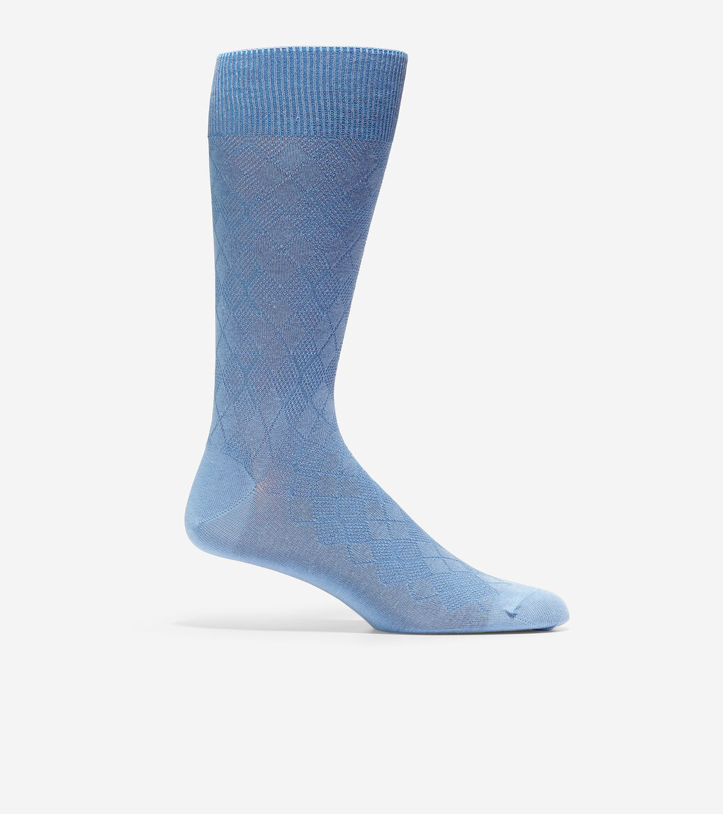 MENS Tonal Argyle Crew Socks