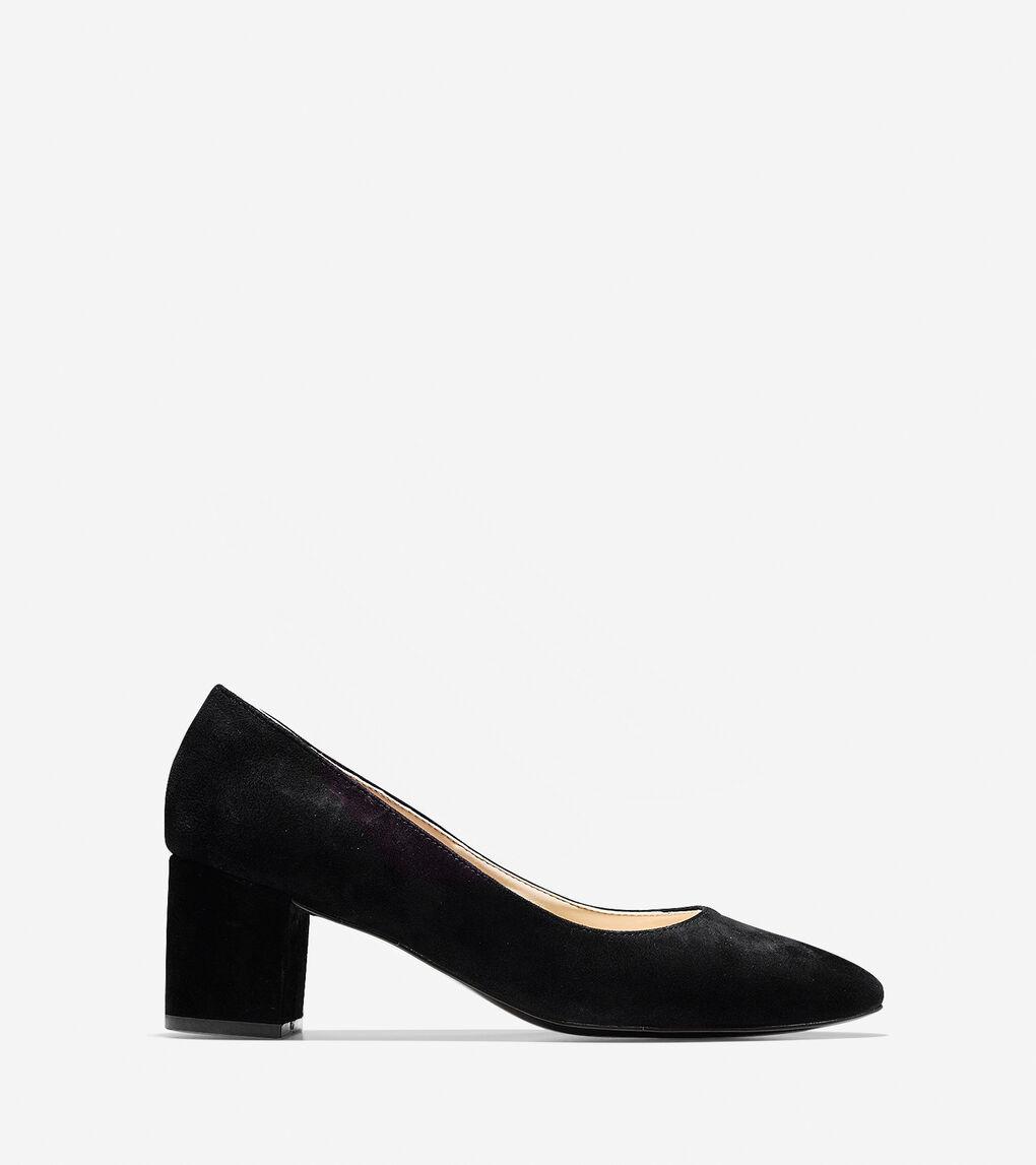 f83398ed27 Women's Justine Pump (55mm) in Black Suede | Cole Haan US