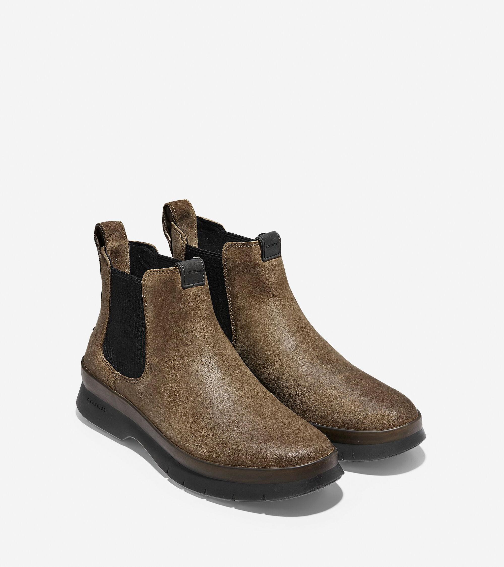 fce45363787 Men s Pinch Utility Waterproof Chelsea Boots in Chamois-Black
