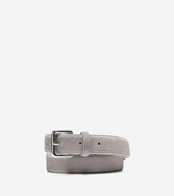 Flat Strap Suede Belt