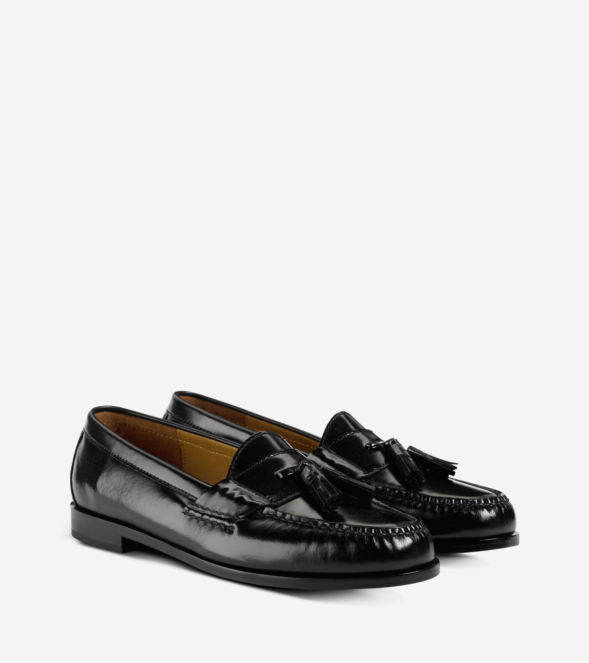 Mens Pinch Tassel Loafers In Black Cole Haan D Island Shoes Slip On Mocasine Casual Loafer