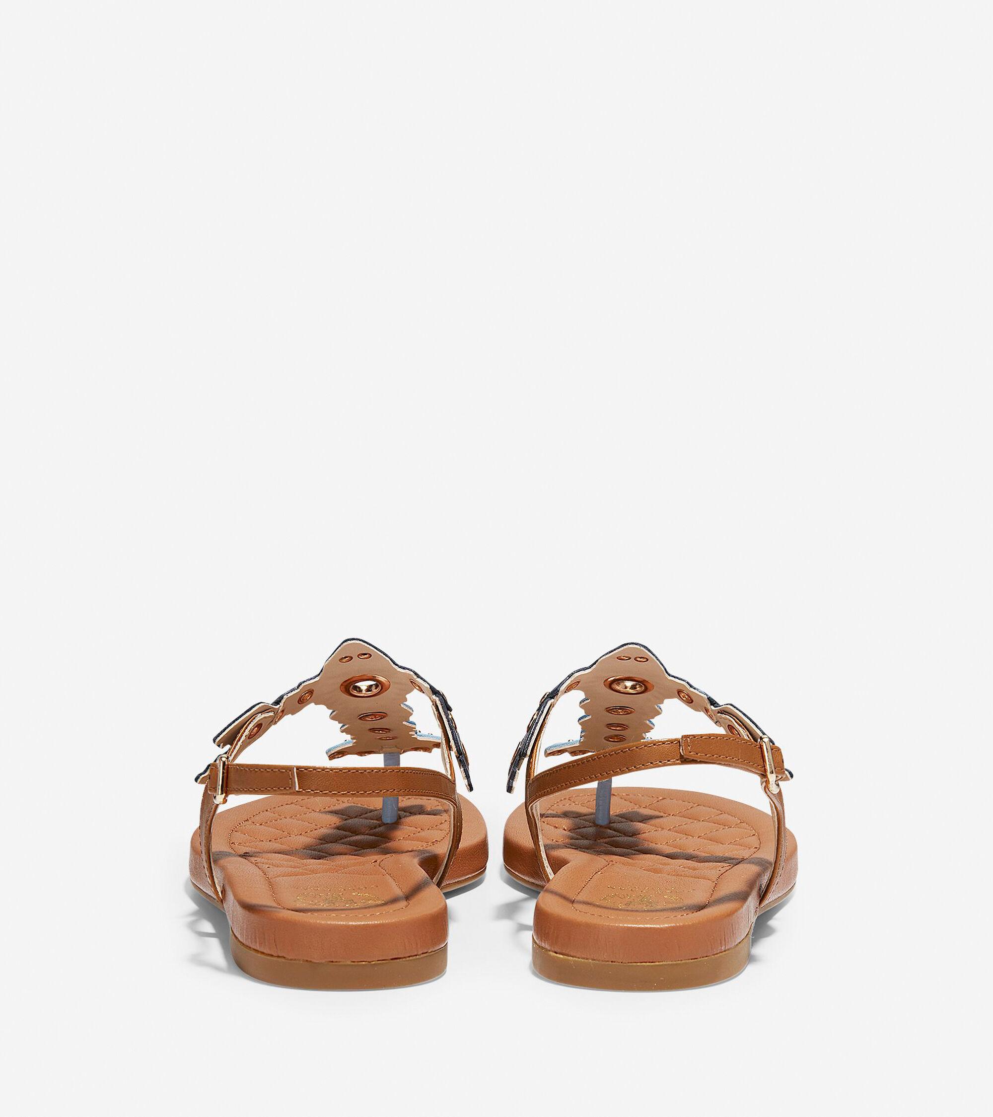 Womens Pinch Lobster Sandals In Blue Cole Haan Tendencies Footbed 2 Strap Brown 42 Sandal