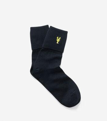 Pinch Turn Cuff Crew Socks