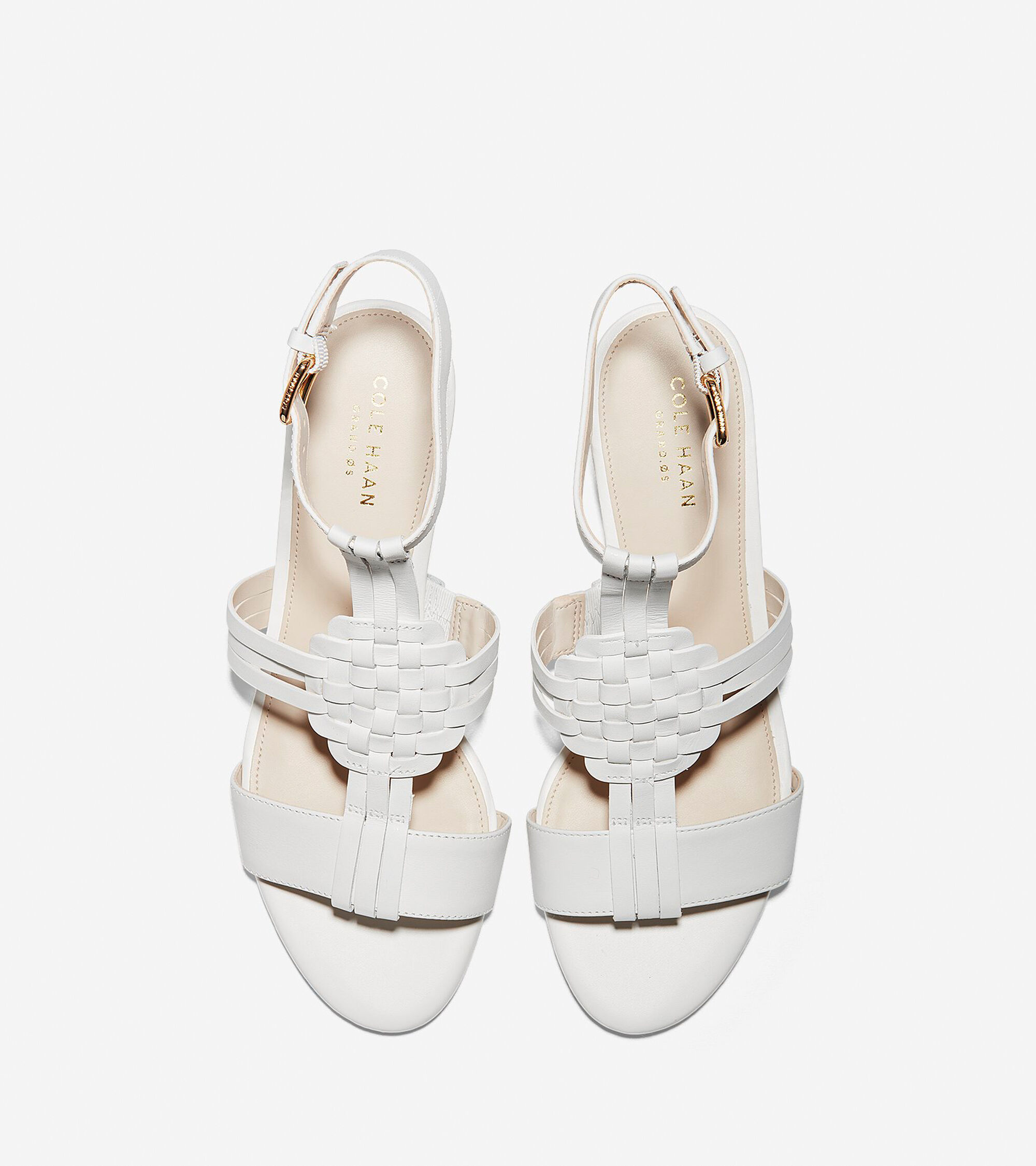 bad5dddd52c Women s Findra Woven Slide Wedge Sandals in White