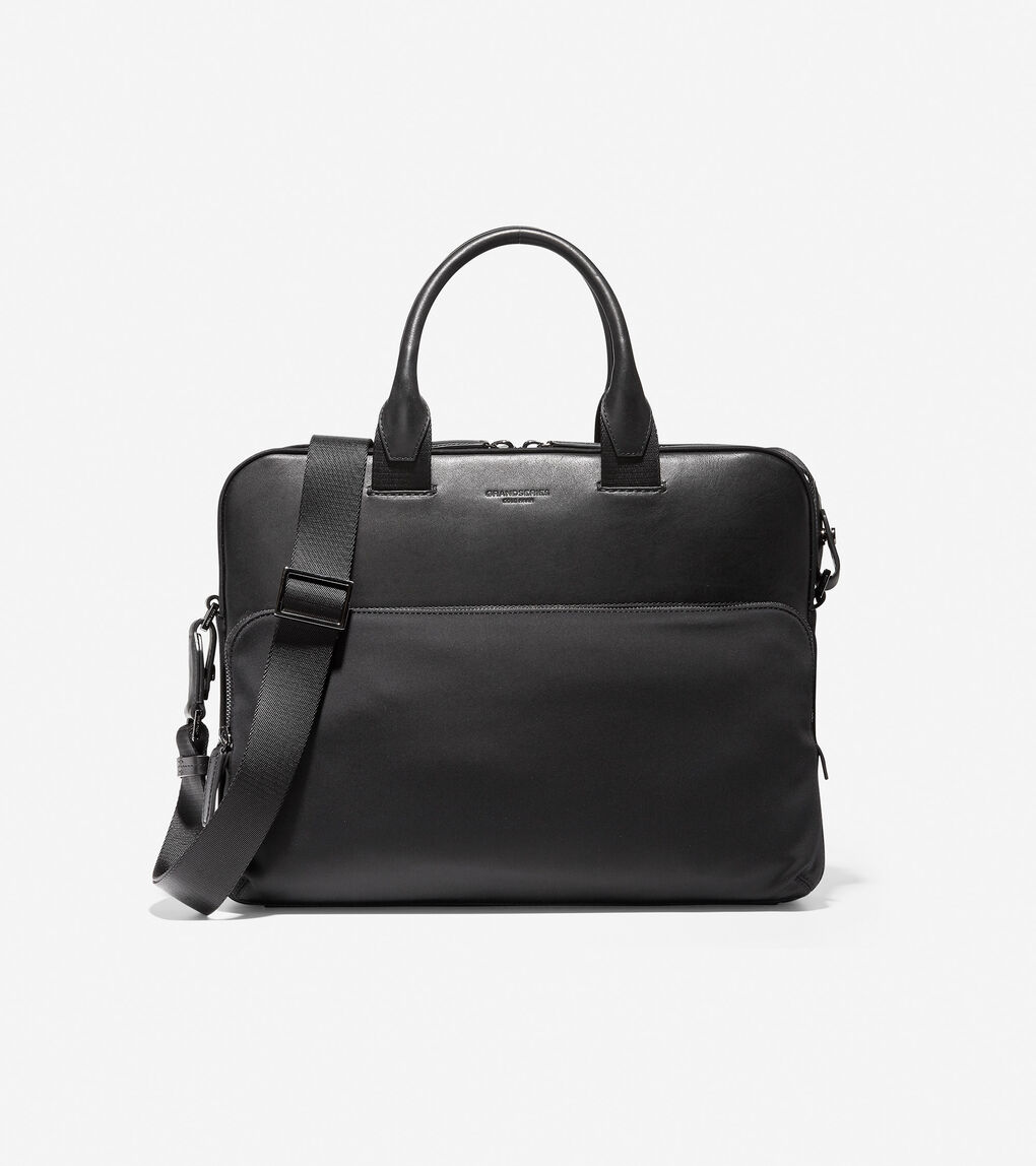 Mens GRANDSERIES Nylon and Leather Attache