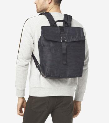 Sawyer Nylon Flap Backpack