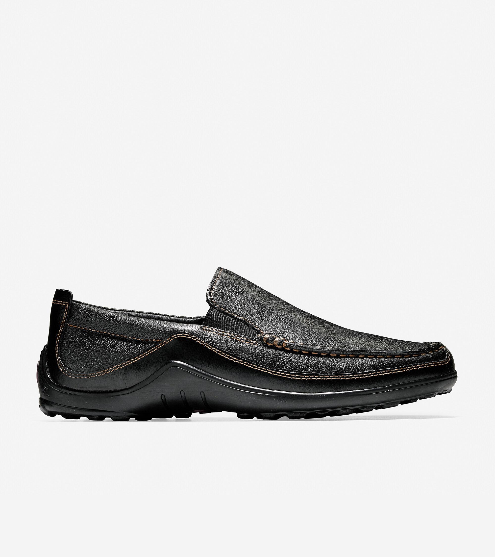 XLY Herren Smoking Oxford Leder Plain Toe Loafers, Metall
