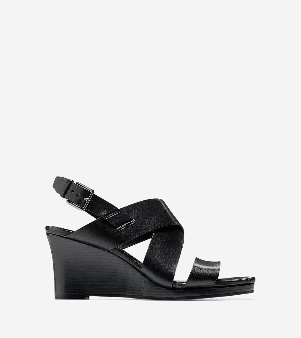 637a9dc2ea Womens Penelope Wedges Sandals in Black | Cole Haan