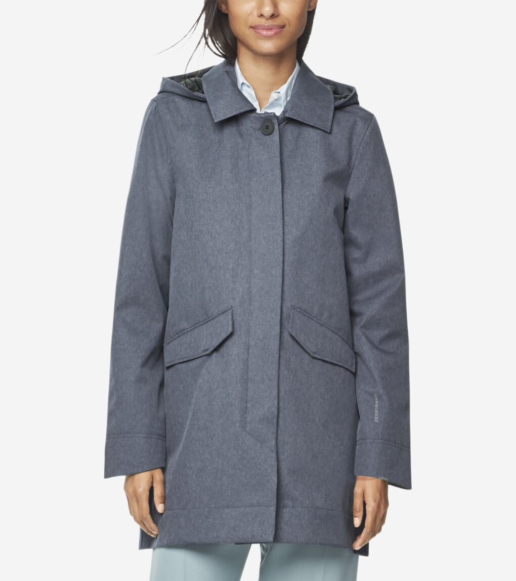 Womens ZERØGRAND Long City Jacket