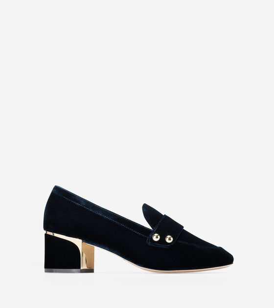 Shoes > Collection Hardware Block Heel Loafer (50mm)