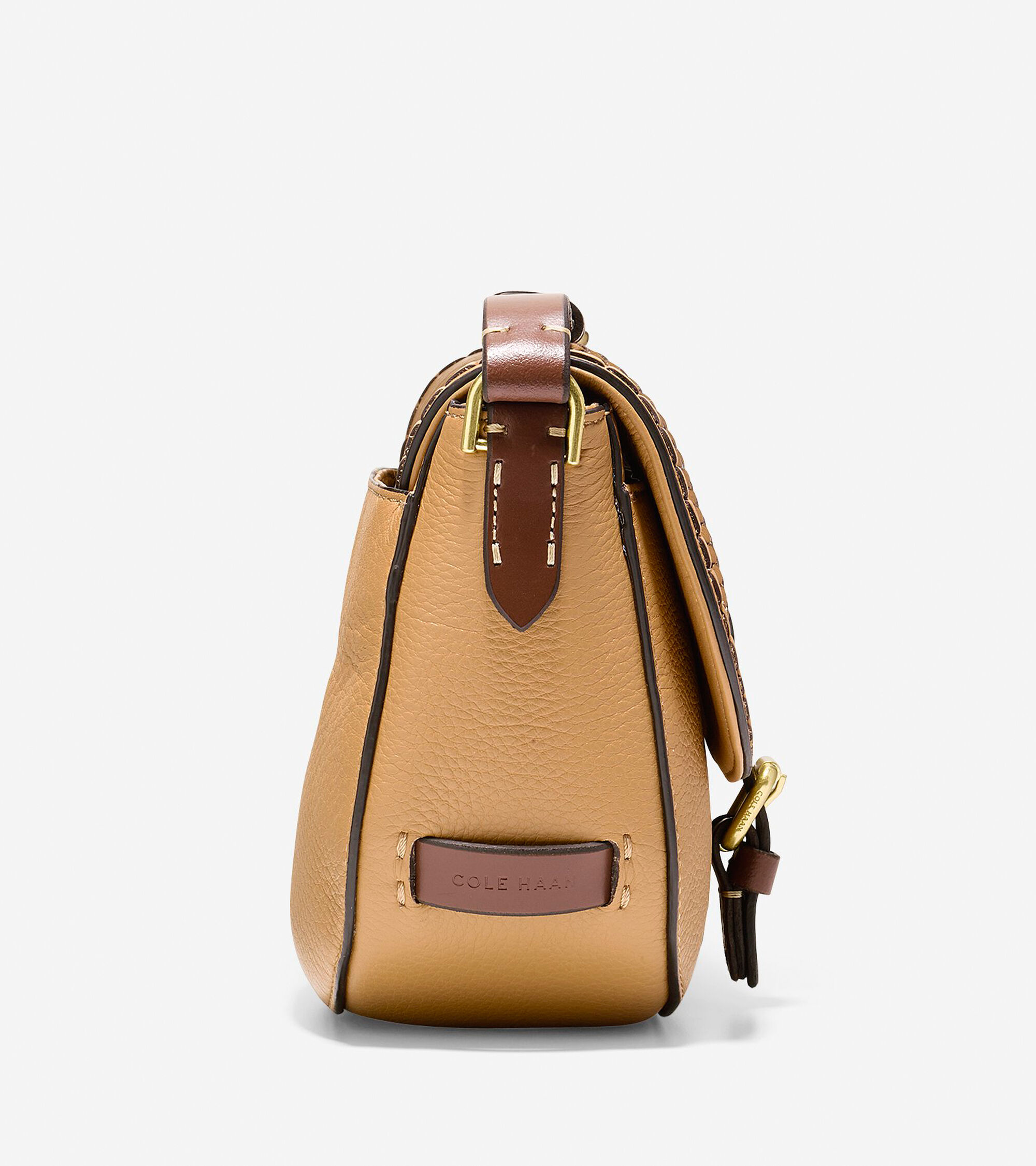 efaa56cca407 Women s Loralie Whipstitched Mini Saddle Bag in Camel
