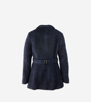 Funnel Collar Boucle Coat