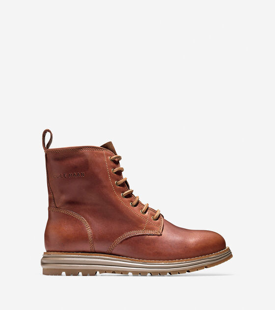 Lockridge Waterproof Lace Boots In Woodbury Cole Haan
