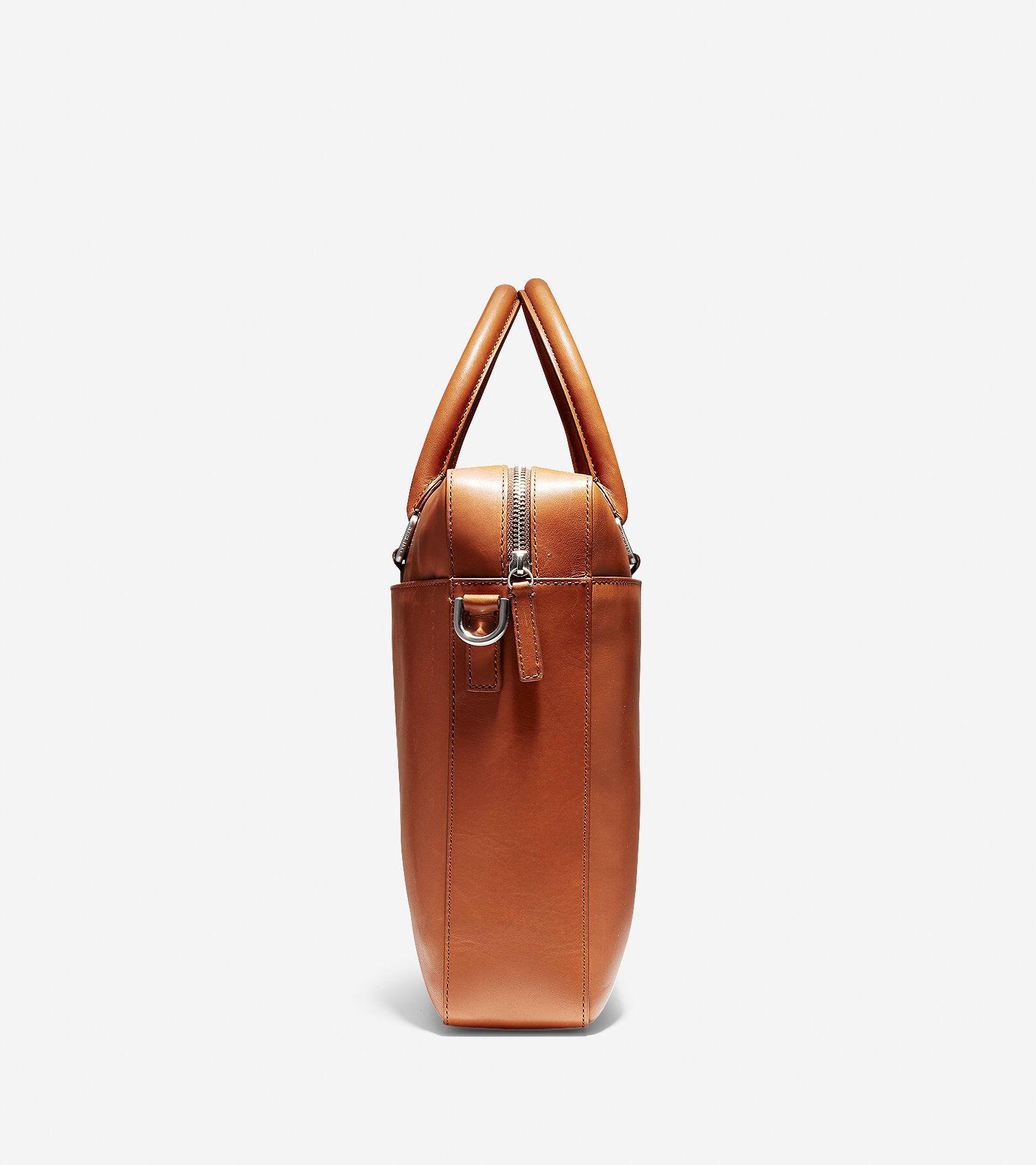 Warner Attaché in British Tan Leather
