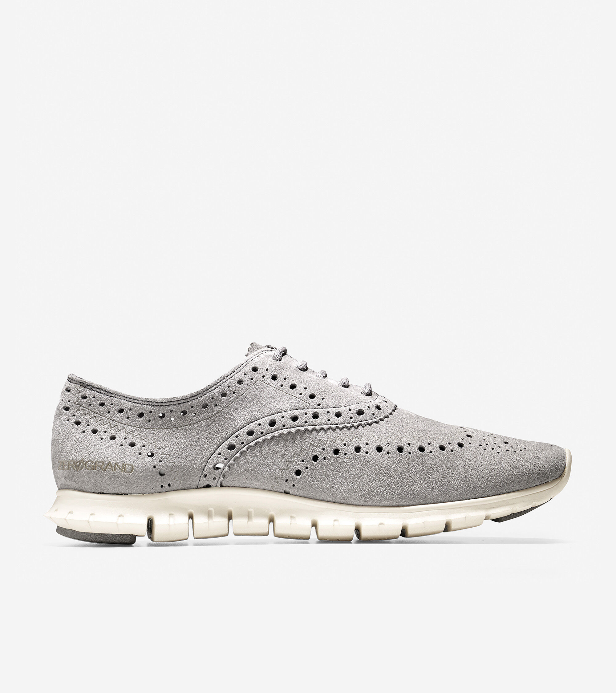 Womens Zerogrand Wing Oxfords In Ironstone Cole Haan Cut Engineer Shoes Safety Boots Iron Suede Leather Black Zergrand Wingtip Oxford