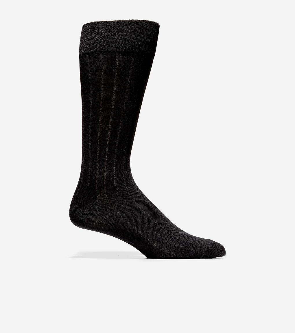 MENS 3-Pair Nailhead Rib Solid Knit Socks