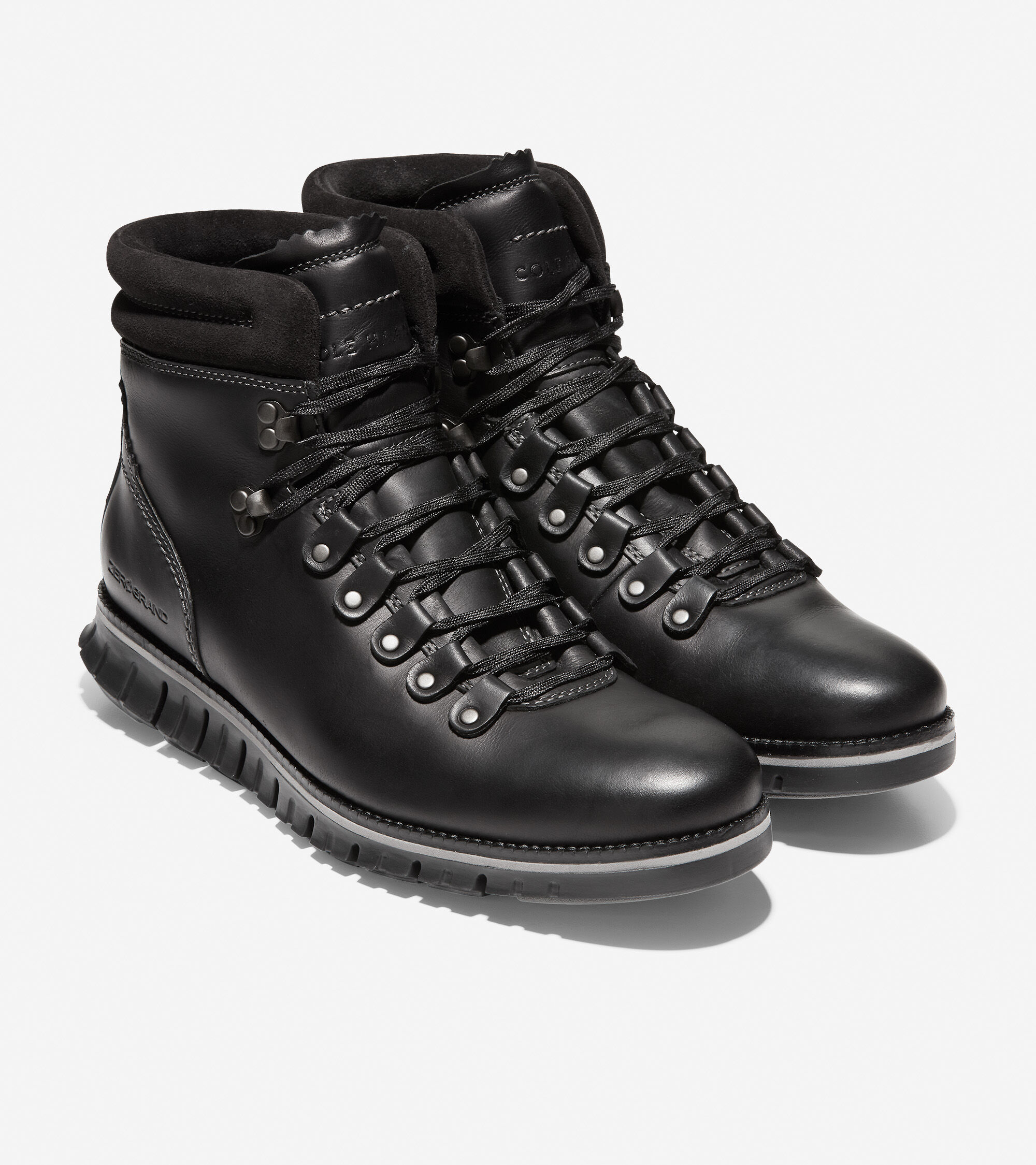 Hiker Boot in Black Leather