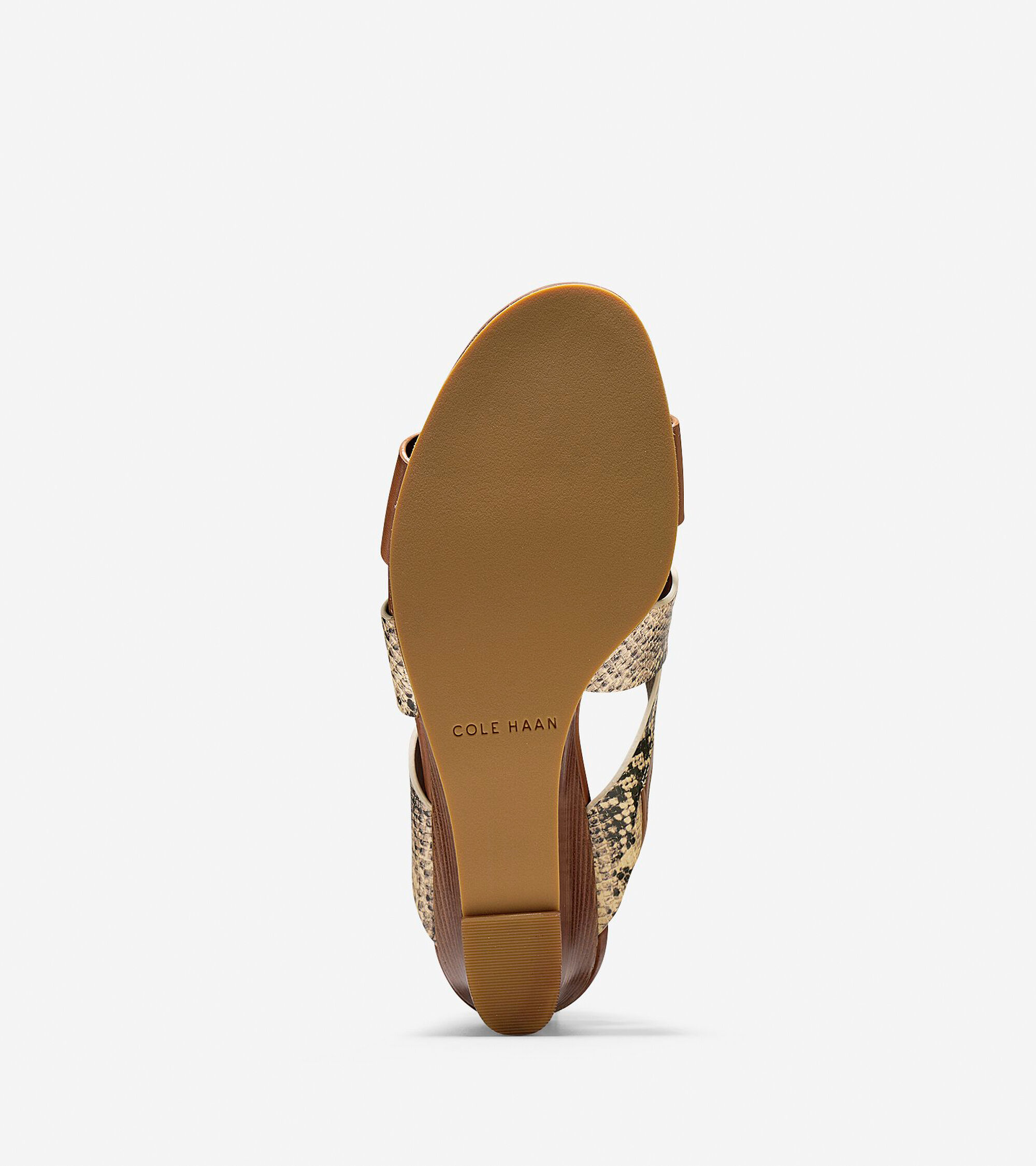 42033a043e70 Penelope Wedge Sandals in Roccia Snake Print-Camello