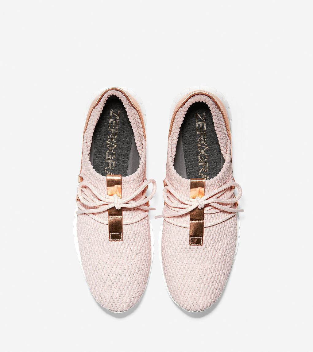 Womens ZERØGRAND Quilted Sneaker