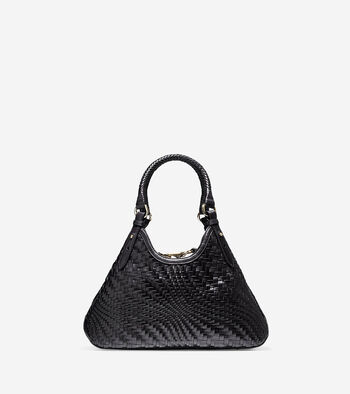Genevieve Weave Small Triangle Tote