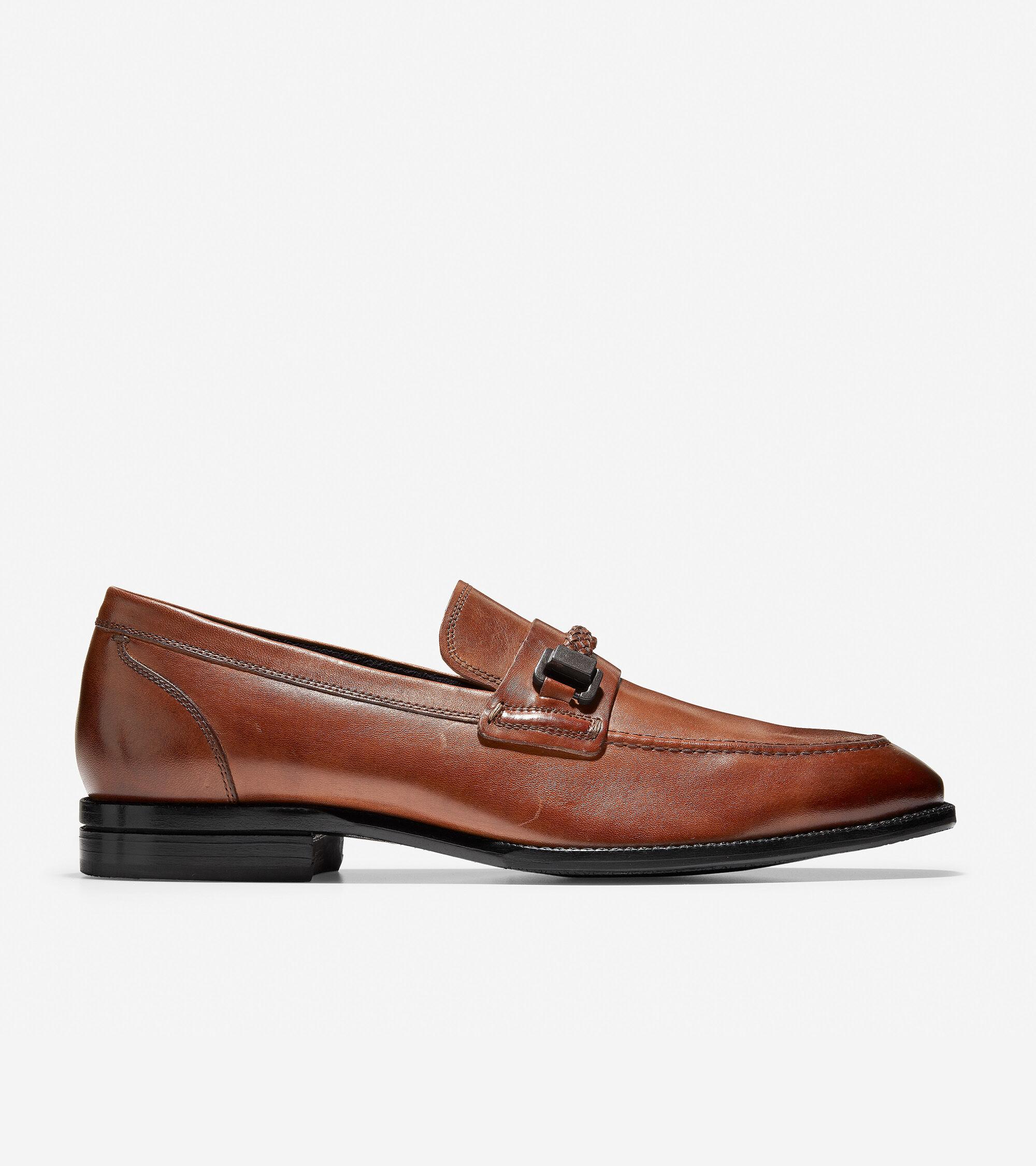 Men Cole Haan Warner Grand Bit Loafer//Dress Shoes Leather Black