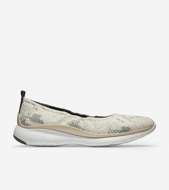 Ballets > Women's 3.ZERØGRAND Rouched Slip-on Ballet Flat